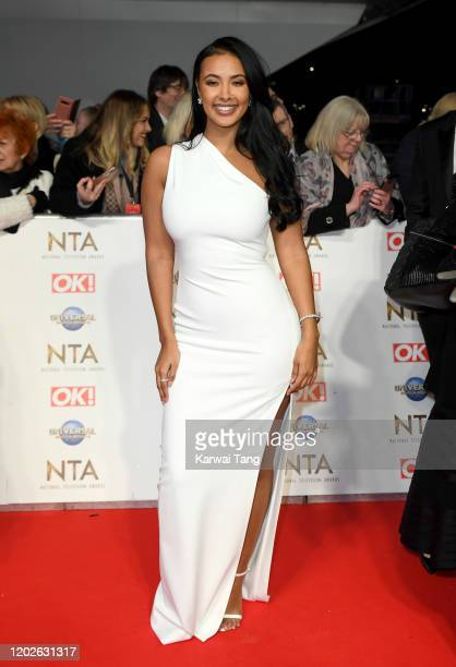 Maya Jama attends the National Television Awards 2020 at The O2 Arena on January 28, 2020 in London, England.