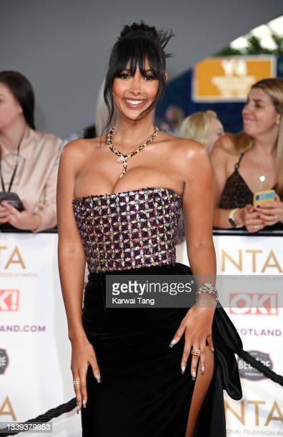 Maya Jama attends the National Television Awards 2021 at The O2 Arena on September 09, 2021 in London, England.