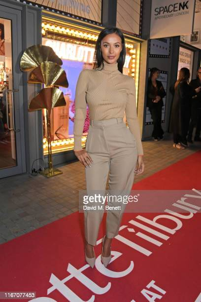 Maya Jama attends the premiere party for the launch of awardwinning brand Charlotte Tilbury at the Space NK Kings Cross store on September 9 2019 in...