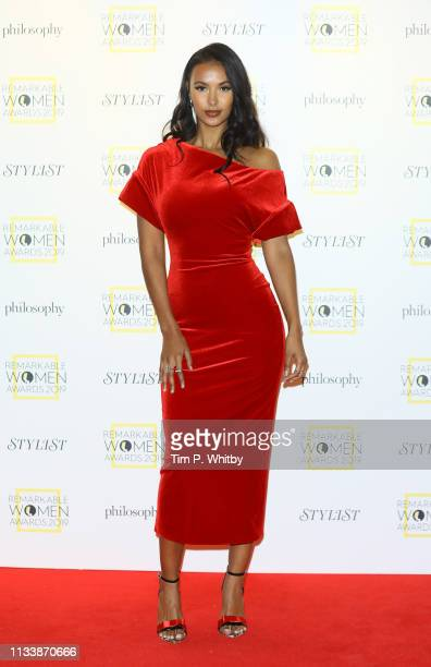 Maya Jama attends the Remarkable Women Awards at Rosewood London on March 05 2019 in London England