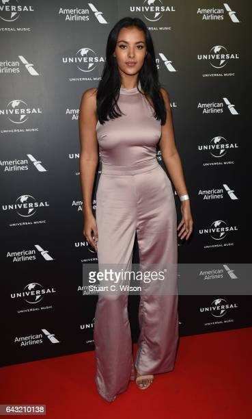 Maya Jama attends the Universal Music preBRIT Award party at one Embankment on February 20 2017 in London England