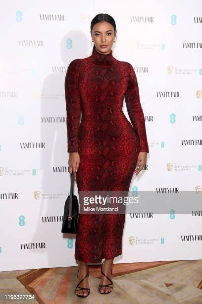 Maya Jama attends the Vanity Fair EE Rising Star BAFTAs Pre Party at The Standard on January 22 2020 in London England