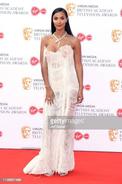 Maya Jama attends the Virgin Media British Academy Television Awards 2019 at The Royal Festival Hall on May 12 2019 in London England