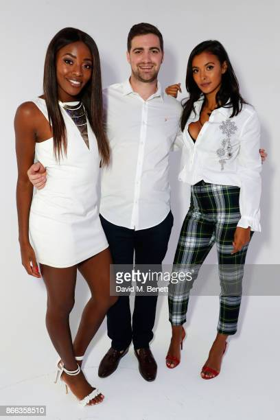 Maya Jama Get A Drip Founder Richard Chambers and AJ Odudu attend the Get A Drip launch party at Rida East on October 25 2017 in London England