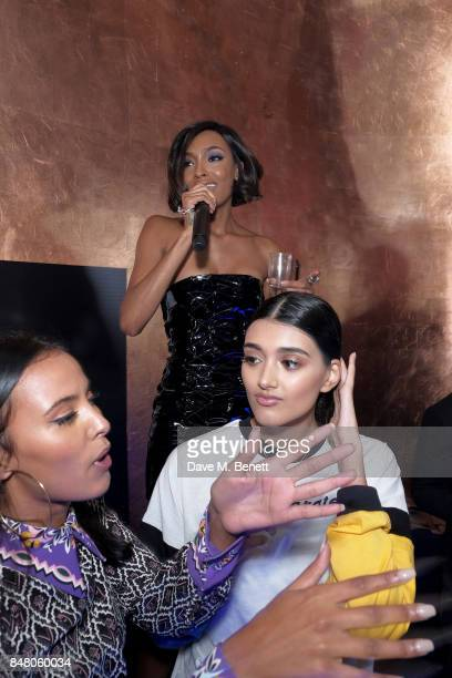 Maya Jama Jourdan Dunn and Neelam Gill attend LON DUNN x Missguided Official Launch Party Hosted by Jourdan Dunn at The London Reign on September 16...