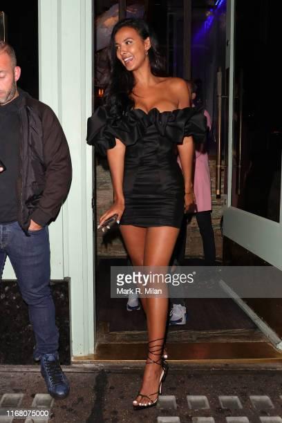 Maya Jama leaving Sexy Fish restaurant on August 14 2019 in London England