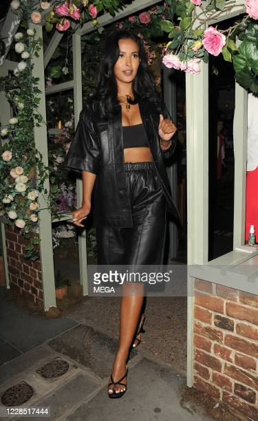 Maya Jama leaving The Chelsea Ivy Garden on September 14, 2020 in London, England.