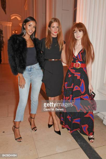 Maya Jama Millie Mackintosh and Nicola Roberts attend the House of Fraser VIP dinner to relaunch Issa London at The Orangery on September 4 2017 in...