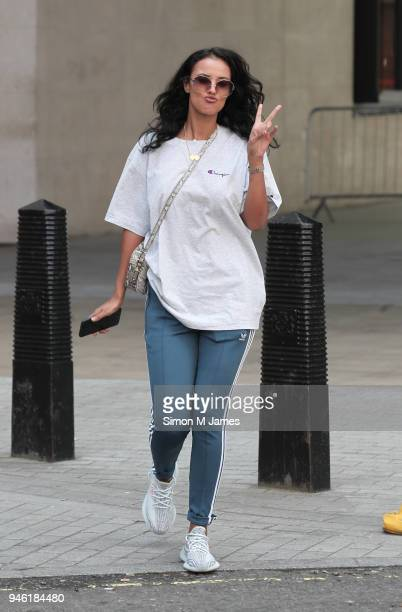 Maya Jama seen at the BBC on April 14 2018 in London England