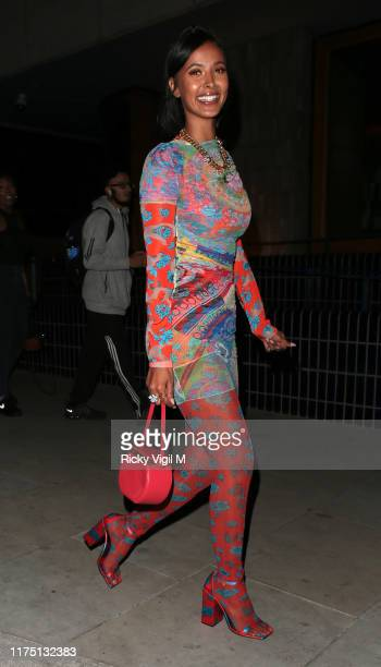 Maya Jama seen attending LOVE Magazine YouTube party at The Standard during LFW September 2019 on September 16 2019 in London England