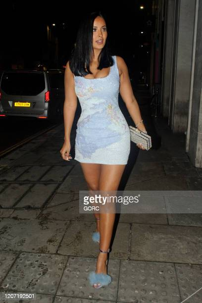 Maya Jama seen attending the BRIT Awards 2020 Universal afterparty at the Ned hotel on February 18 2020 in London England