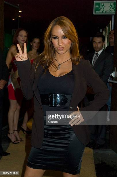 Maya Karunna poses for a photograph during the Red Carpet of the Inauguration of Showcenter at Insurgentes Avenue on July 7 2010 in Mexico City Mexico