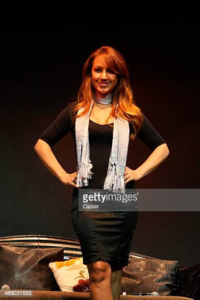 Maya Karunna poses for photos during the presentation of the new show Tributo a las Grandes Divas on May 08 2014 in Mexico City Mexico