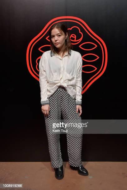 Maya Kibel attends the Shiseido Makeup Tokyo Launch Event on August 1 2018 in Tokyo Japan