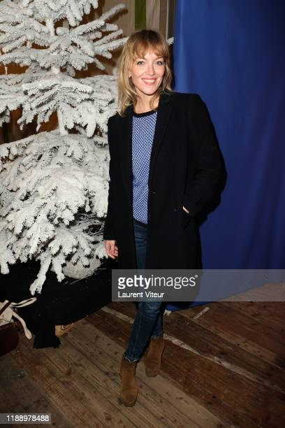 "Maya Lauqué attends the ""Peres Noel Verts"" By Le Secours Populaire Launch at Cirque du Phenix on November 20, 2019 in Paris, France."