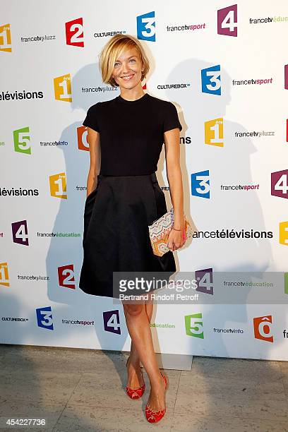 Maya Lauqu attends the 'Rentree De France Televisions' at Palais De Tokyo on August 26, 2014 in Paris, France.
