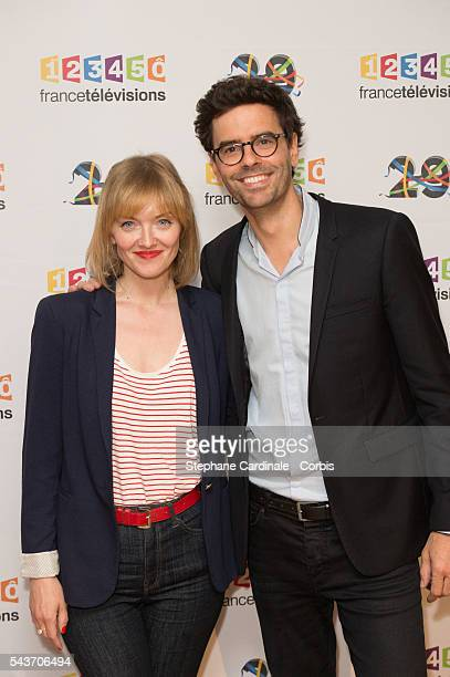 Maya Lauque and Thomas Isle attend the France Television 2016/2017 Photocall on June 29, 2016 in Paris, France.