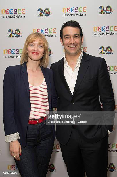 Maya Lauque and Thomas Thouroude attend the France Television 2016/2017 Photocall on June 29, 2016 in Paris, France.