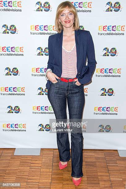 Maya Lauque attend the 'Rendez-vous du 29' Photocall at France Television on June 29, 2016 in Paris, France.