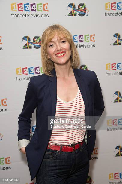Maya Lauque attends the France Television 2016/2017 Photocall on June 29, 2016 in Paris, France.