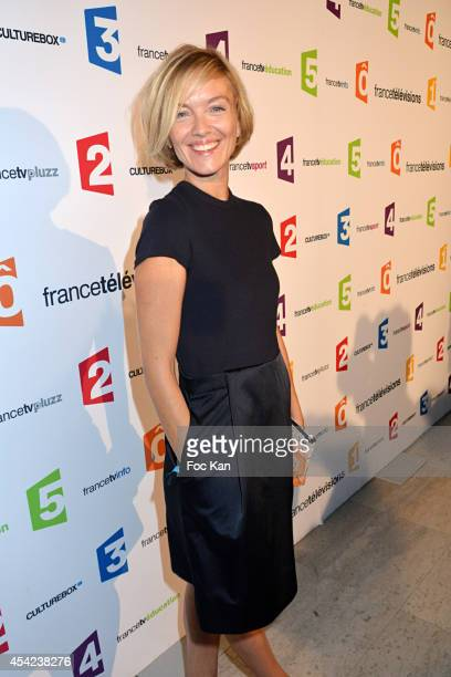 Maya Lauque attends the 'Rentree de France Televisions' at Palais De Tokyo on August 26 2014 in Paris France