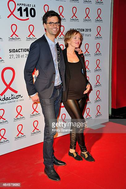 Maya Lauque attends the Sidaction 2015 at Musee du Quai Branly on March 2, 2015 in Paris, France.