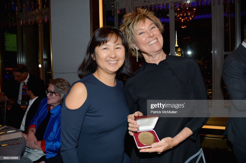Maya Lin and Edwina von Gal attend the Guild Hall Academy of the Arts Achievement Awards & Benefit Dinner at The Rainbow Room on March 13, 2017 in New York City.