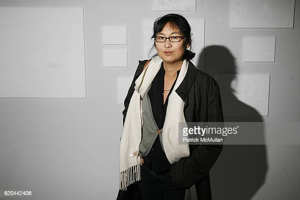 Maya Lin attends Vito Schnabel and Olivier Sarkozy Present TERENCE KOH Flowers for Baudelaire at Former Richard Avedon Studio on November 12 2008 in...