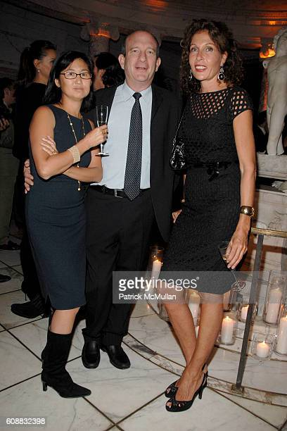 Maya Lin Daniel Wolf and Jacqueline Schnabel attend A Dinner In Honor Of Monsieur JACQUES GRANGE To Celebrate His Nomination as Chevalier de la...