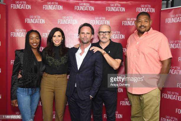"Maya Lynne Robinson, Michaela Watkins, Walton Goggins, Rob Corddry and Omar Benson Miller at SAG-AFTRA Foundation Conversations with ""The Unicorn"" at..."