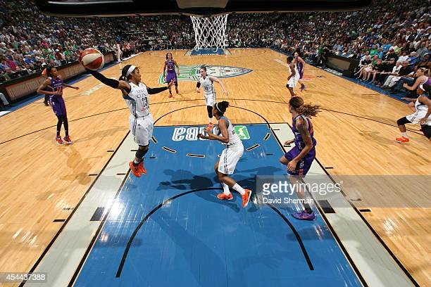 Maya Moore of the Minnesota Lynx gets the rebound against the Phoenix Mercury during the WNBA Western Conference Finals Game 2 on August 31 2014 at...