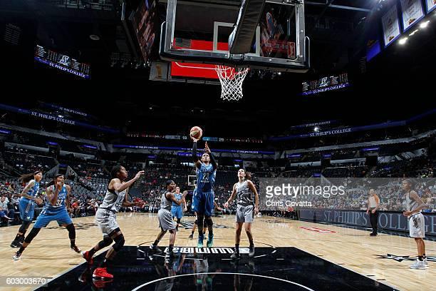 Maya Moore of the Minnesota Lynx shoots the ball against the San Antonio Stars on September 11 2016 at ATT Center in San Antonio Texas NOTE TO USER...