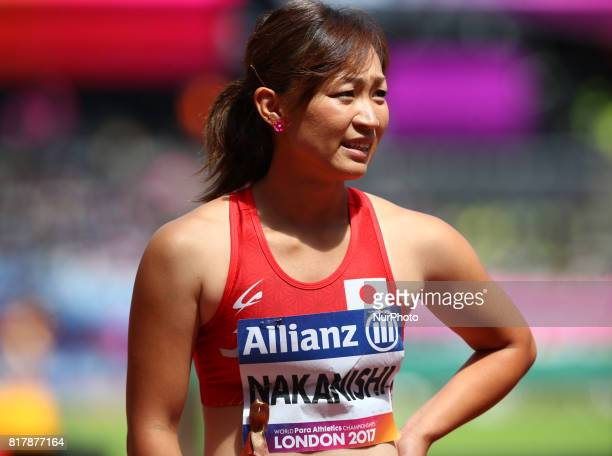 Maya Nakanishi ,compete in Women's 100m T44 Heat 1 during IPC World Para Athletics Championships at London Stadium in London on July 17, 2017