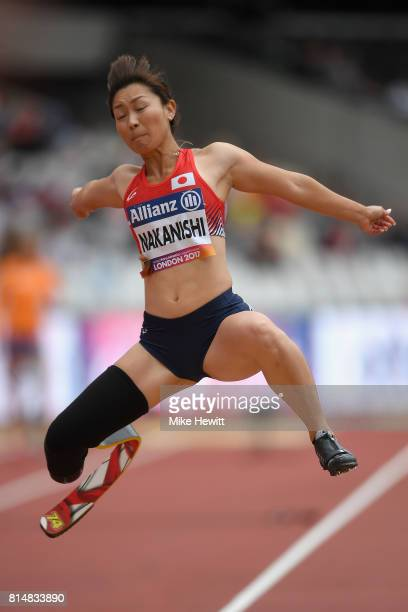 Maya Nakanishi of Japan competes in the Women's Long Jump T44 Final during Day Two of the IPC World ParaAthletics Championships 2017 at London...