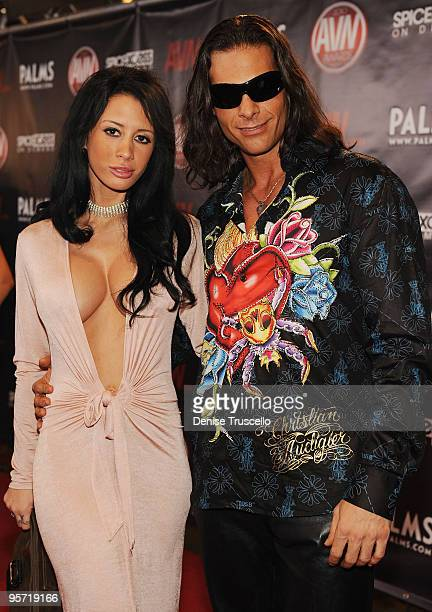 Maya Nicole and Nick Manning arrives at the 2010 AVN Awards at the Pearl at The Palms Casino Resort on January 9 2010 in Las Vegas Nevada