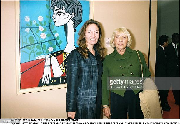 Maya Picasso daughter of 'Pablo Picasso' and 'Diana Picasso' the stepdaughter of 'Picasso' 'Picasso Intime' collection of Jacqueline exhibition launch
