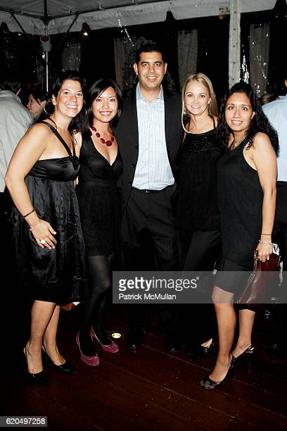 Maya Polton Heidi Wong Karim Farag Lori Flynn and Vanessa Velazquez attend EVERYDAY HEALTH 2nd Anniversary Party at Hudson Terrace on September 25...