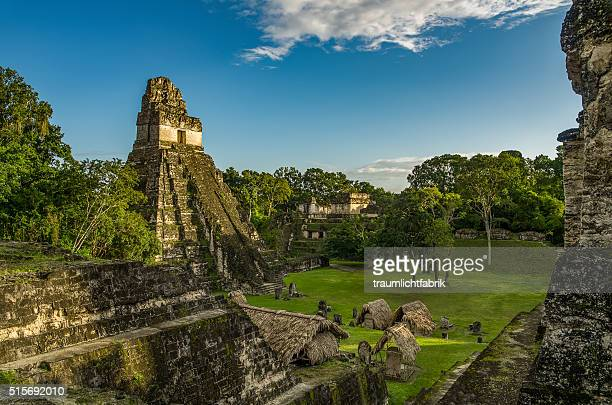 Maya Pyramids in afternoon light