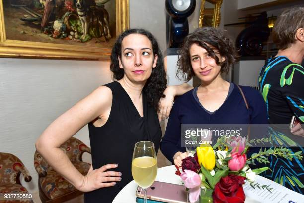 Maya Rock and April Rabkin attend 'The Initiation' Book Launch at Bouley TK on March 15 2018 in New York City