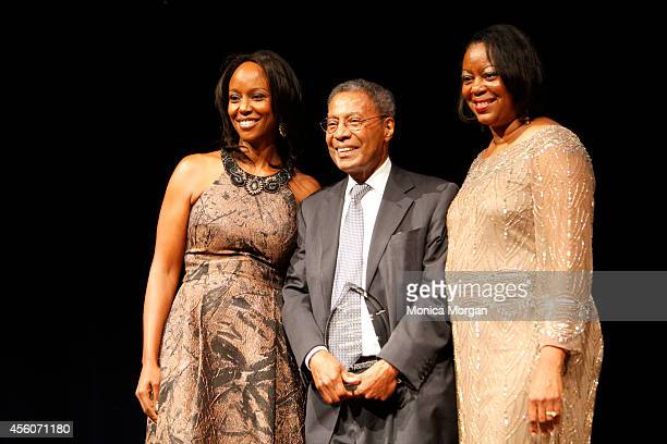 Maya RockeyMoore Cummings Alvin Poussaint and Mereda Davis Johnson attends The Congressional Black Caucus Spouses Event at The Newseum on September...
