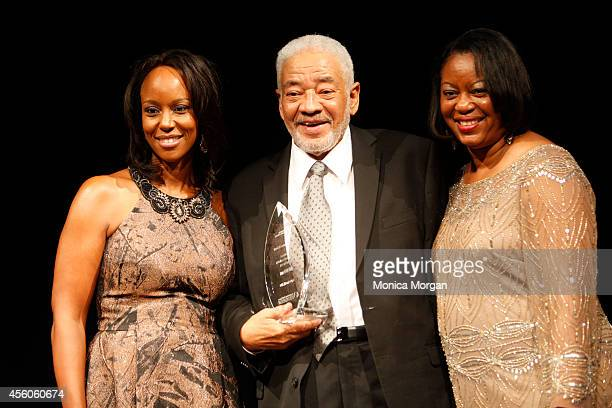 Maya Rockeymoore Cummings Bill Withers and Mereda Davis Johnson attends The Congressional Black Caucus Spouses Event at The Newseum on September 24...