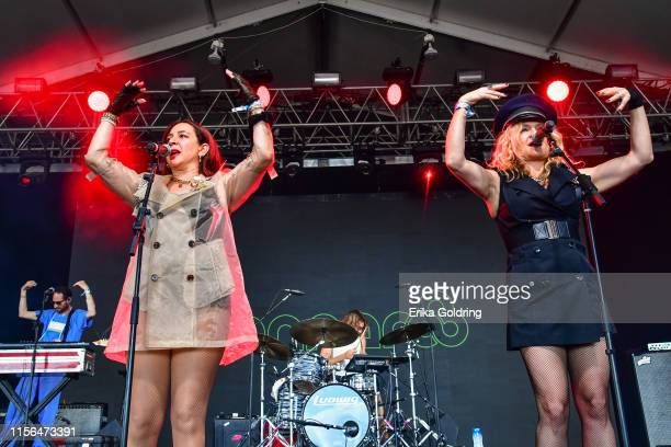 Maya Rudolph and Gretchen Lieberum of Princess perform during 2019 Bonnaroo Music Arts Festival on June 16 2019 in Manchester Tennessee