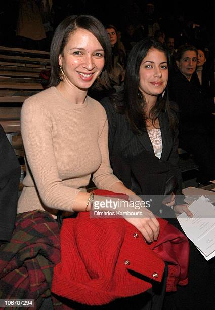 Maya Rudolph and guest during MercedesBenz Fashion Week Fall 2003 Collections Marc Jacobs Front Row and Backstage at New York State Armory in New...