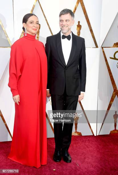 Maya Rudolph and Paul Thomas Anderson attend the 90th Annual Academy Awards at Hollywood Highland Center on March 4 2018 in Hollywood California