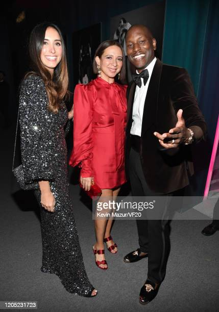 Maya Rudolph and Tyrese Gibson attend the 2020 Vanity Fair Oscar Party hosted by Radhika Jones at Wallis Annenberg Center for the Performing Arts on...