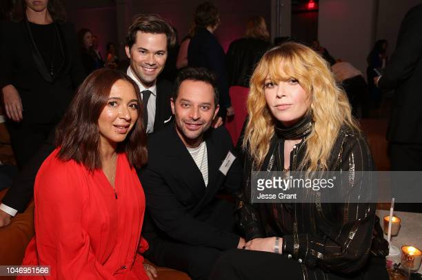 Maya Rudolph Andrew Rannells Nick Kroll and Natasha Lyonne attend the Planned Parenthood Advocacy Project LA County's Politics Sex Cocktails...