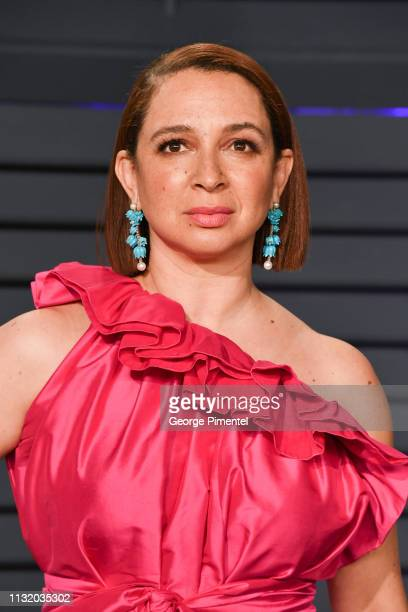 Maya Rudolph attends the 2019 Vanity Fair Oscar Party hosted by Radhika Jones at Wallis Annenberg Center for the Performing Arts on February 24 2019...