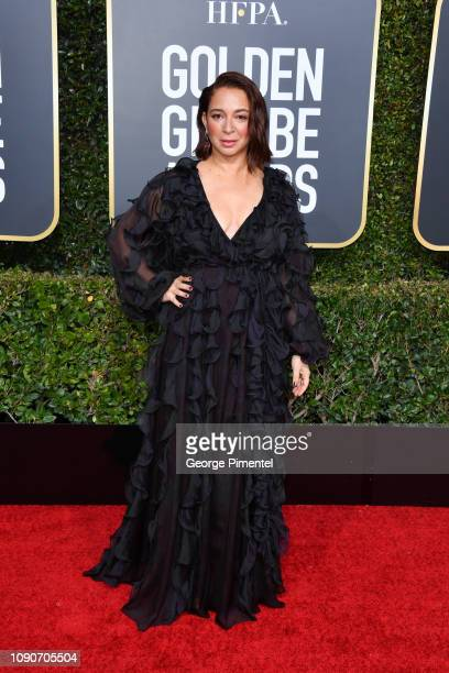 Maya Rudolph attends the 76th Annual Golden Globe Awards held at The Beverly Hilton Hotel on January 06, 2019 in Beverly Hills, California.