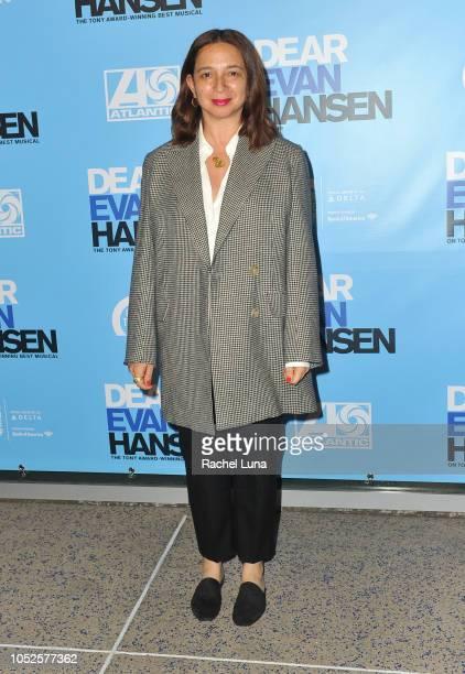 Maya Rudolph attends the Los Angeles opening night performance of 'Dear Evan Hansen' at Ahmanson Theatre on October 19 2018 in Los Angeles California