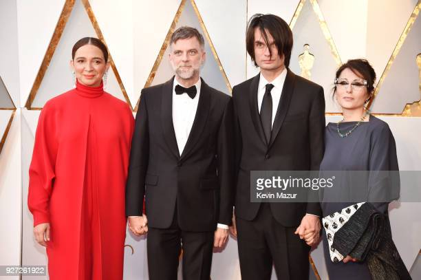 Maya Rudolph director Paul Thomas Anderson composer Jonny Greenwood and Sharona Katan attend the 90th Annual Academy Awards at Hollywood Highland...